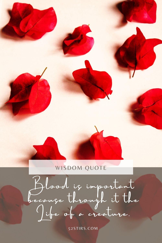 Blood is Life - 52Stirs.com
