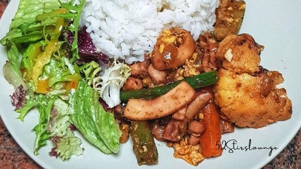 Stir Fry Seafood-Veggies with Egg - 52Stirs.com