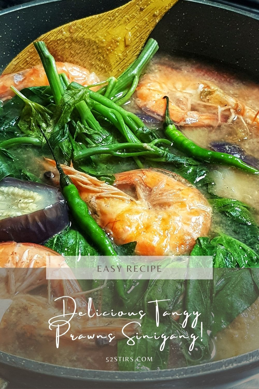 Delicious Tangy Prawns Sinigang - 52Stirs.com
