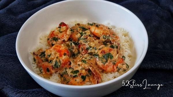 Spicy Creamy Prawns and Parsley Recipe - 52StirsLounge