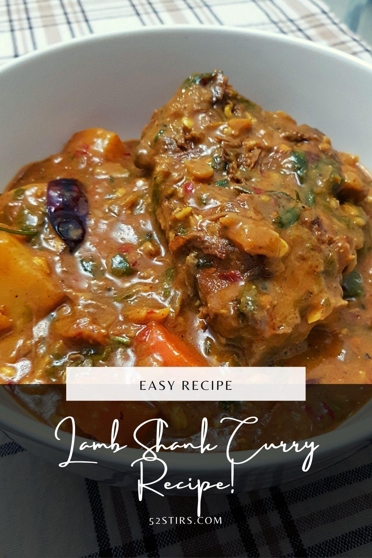Easy Lamb Shank Curry Recipe - 52StirsLounge