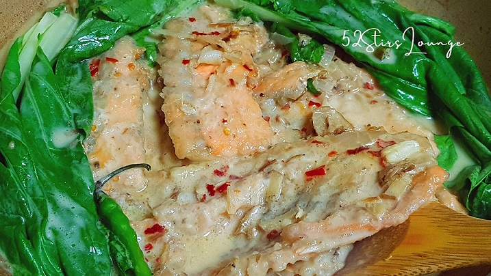 Salmon Belly in Coconut Milk Sauce - 52Stirs.com